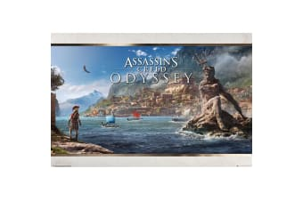 Assassins Creed Odyssey Landscape Poster (Multicolour)