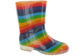 Cotswold PVC Kids Rainbow Welly / Girls Boots (Multi) (22 EUR)