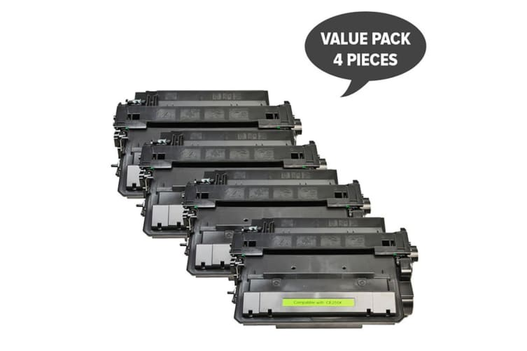 CE255X #55X Black Compatible Laser Toner (Four Pack)
