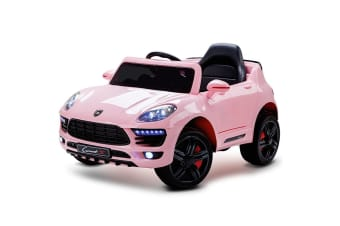 ROVO KIDS Ride-On Car PORSCHE MACAN Inspired Electric Toy Battery 12V Pink