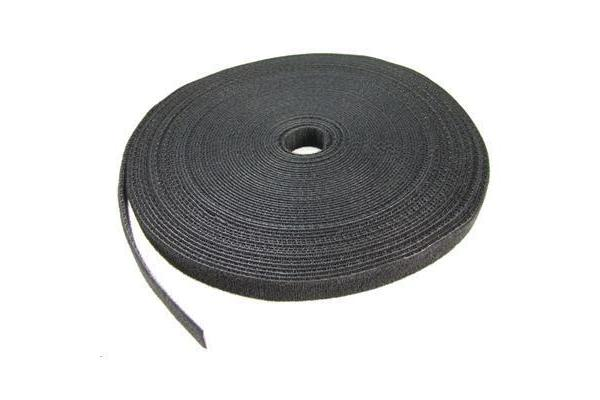 Dynamix 20M Roll of Velcro, 25mm width, dual sided, BLACK colour