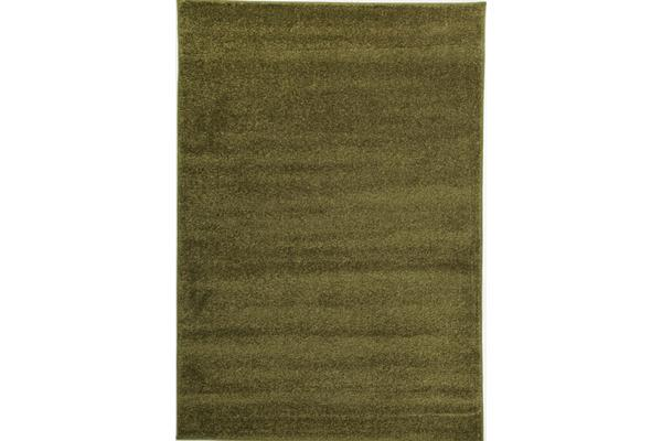 Dense Plain Moss Coloured Rug 230x160cm