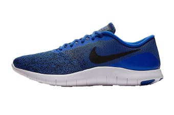 Nike Men's Flex Contact Running Shoes (Racer Blue/Black/White, Size 10 US)