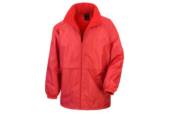 Result Mens Core Adult DWL Jacket (With Fold Away Hood) (Red) (3XL)