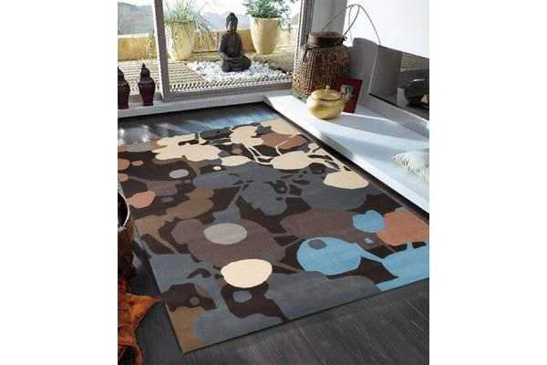 Paint Splatter Design Multi Coloured Rug 280x190cm