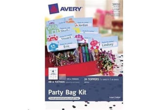 AVERY White Bag Topper