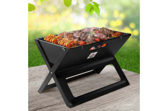 Portable BBQ Charcoal Grill Smoker Outdoor Steel Camping Barbecue