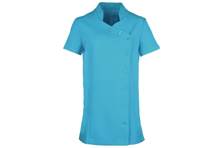 Premier Womens/Ladies *Orchid* Tunic / Health Beauty & Spa / Workwear (Pack of 2) (Turquoise) (16)