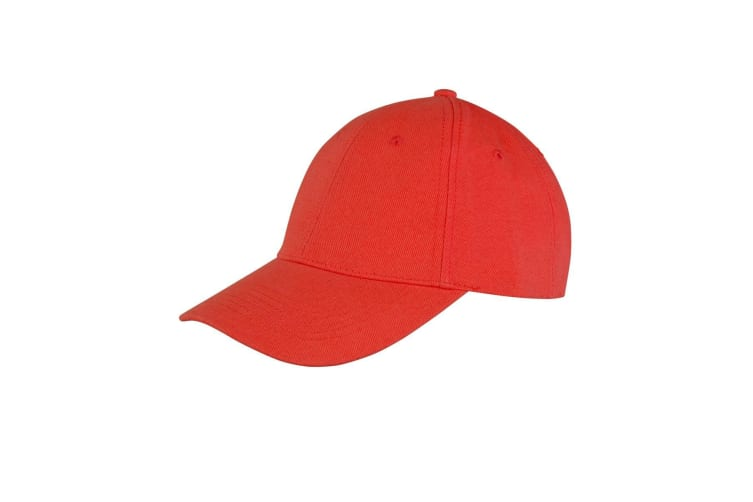 Result Unisex Core Memphis 6 Panel Baseball Cap (Pack of 2) (Red) (One Size)