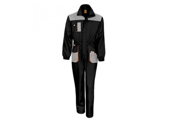 Result Work-Guard Mens Lite Coverall (Black/Grey) (2XL)