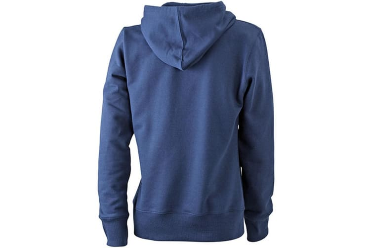 James and Nicholson Womens/Ladies Hooded Sweatshirt (Navy) (M)