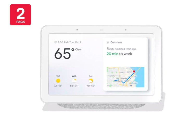 Google Home Hub (Chalk) - 2 Pack