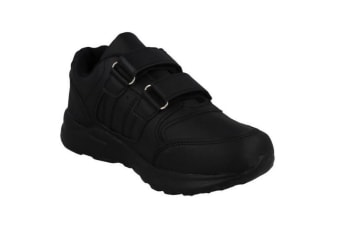 JCDees Boys Trainers (Black Synthetic) (10.5 UK Child)