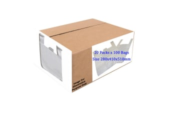 Sapphire Monroe HDPE Vest Plastic Carrier Bags Box  (Box Of 2000) (White) (One Size)