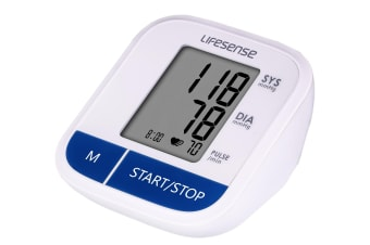 Lifesense Digital Upper Arm Blood Pressure monitor large cuff