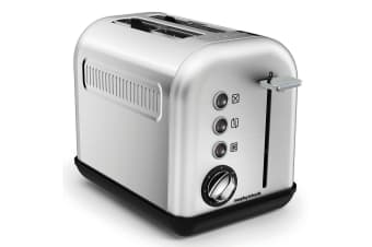 Morphy Richards 850W Equip 2 Slice Toaster Brushed Stainless Steel