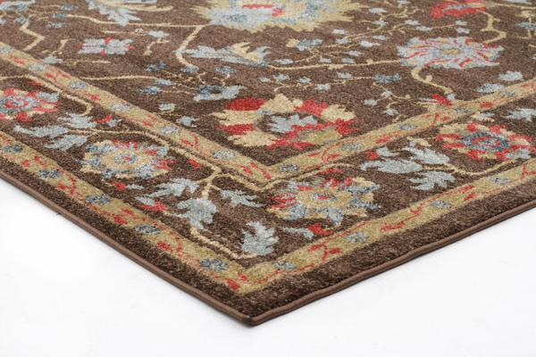 Nain Persian Design Rug Brown Red 400x80cm