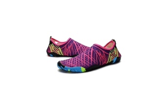 Beach Snorkeling Shoes Diving Lovers Wading Shoes Swimming Shoes 988 Purple 35