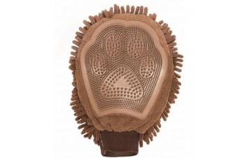 Dog Gone Dirty Dog Grooming Mitt (Brown)