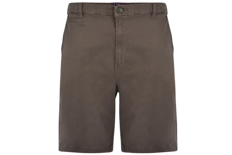 Kam Jeanswear Mens Chino Stretch Shorts (Khaki) (50in)