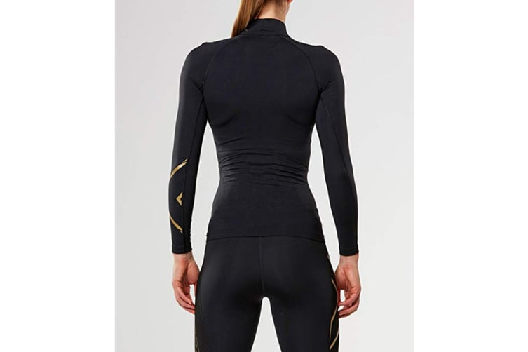 2XU Women's Alpine MCS Thermal Compression Top (Black/Gold, Size L)