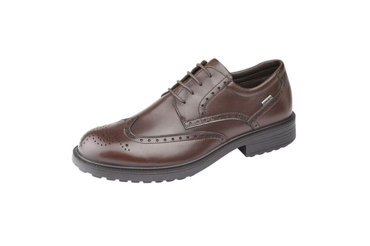 IMAC Mens Leather Water Resistant Brogue Gibson Shoes (Brown) (11 UK)