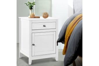 Artiss Bedside Tables Drawers Side Table Storage Cabinet Big Nightstand Bedroom
