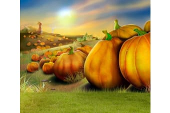 Pumpkin Mountains Wall Murals Wallpaper Murals Woven paper (need glue)