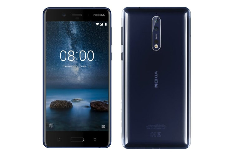 Nokia 8 (64GB, Polished Blue) - Pre-owned
