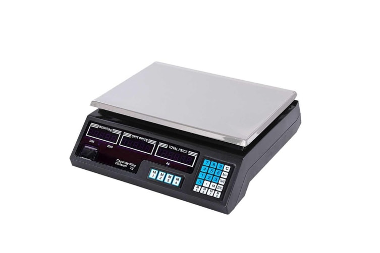 SOGA Digital Commercial Kitchen Scales Shop Electronic Weight Scale Food 40kg/2g