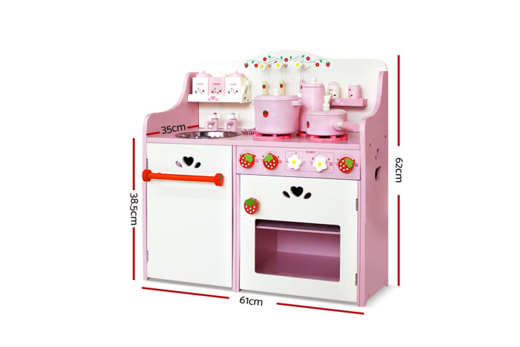 Keezi Kids Kitchen Play Set Pretend Wooden Toys Cooking Toy