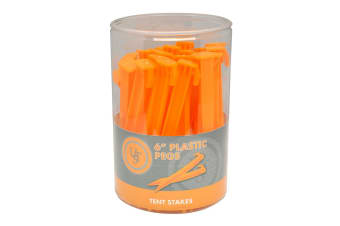 "UST 6"" Plastic Orange Tent Pegs - 36 Peg"