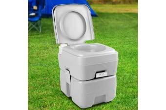 Weisshorn 20L Portable Outdoor Toilet - Grey