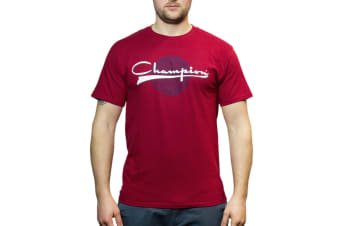 Champion Men's Graphic Jersey Tee - Burnt Brick (Size S)