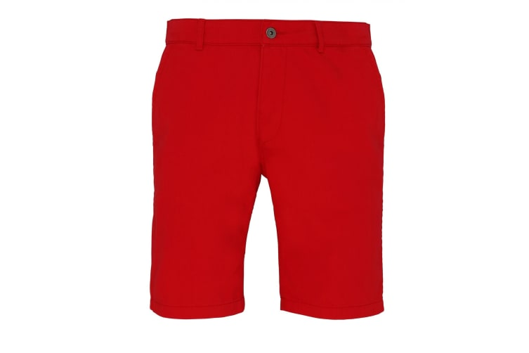 Asquith & Fox Mens Casual Chino Shorts (Cherry Red) (XS)