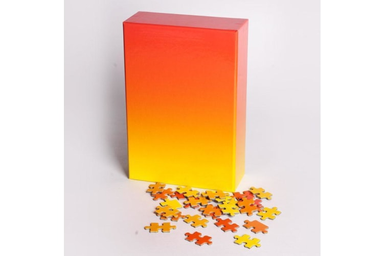 500 Pcs Gradient Puzzle   Areaware - Red/Yellow