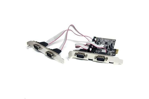 STARTECH PEX4S553 4 Port PCIe Serial Adapter Card w/ 16550
