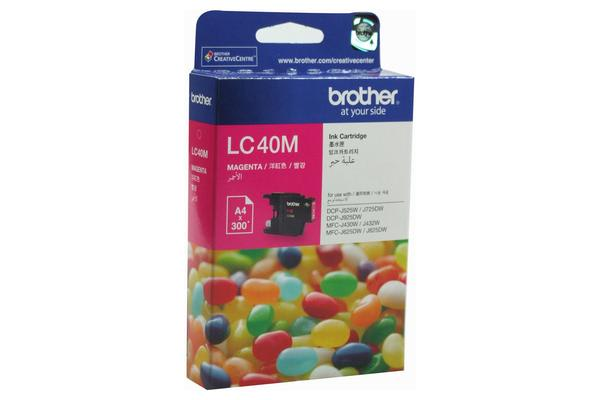 Brother LC-40 Magenta Ink Cart 300 Pages