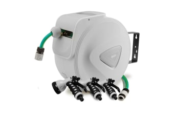 PLANTCRAFT 10M Retractable Garden Water Hose Reel Storage Spray Gun Rewind