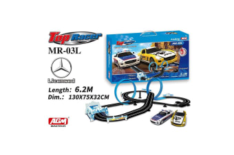 AGM Top Racer 1:64 Mercedes Benz Crossover Car Set with Twin Loops
