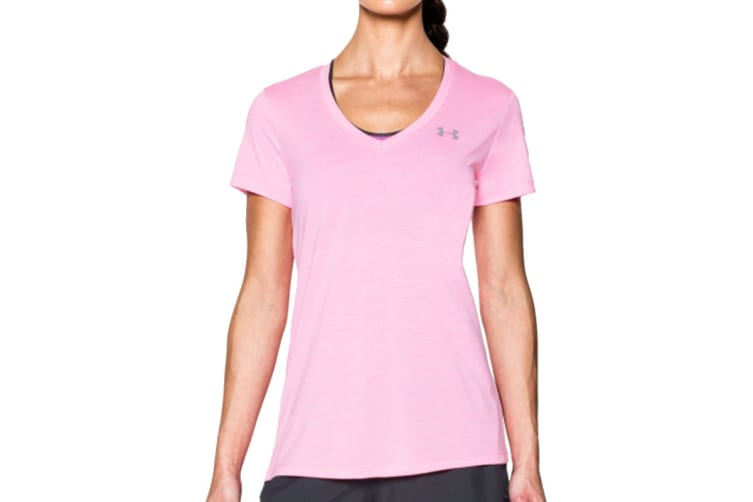 Under Armour Women's Twisted Tech V-Neck (Shirt (Pink Craze, Size S)