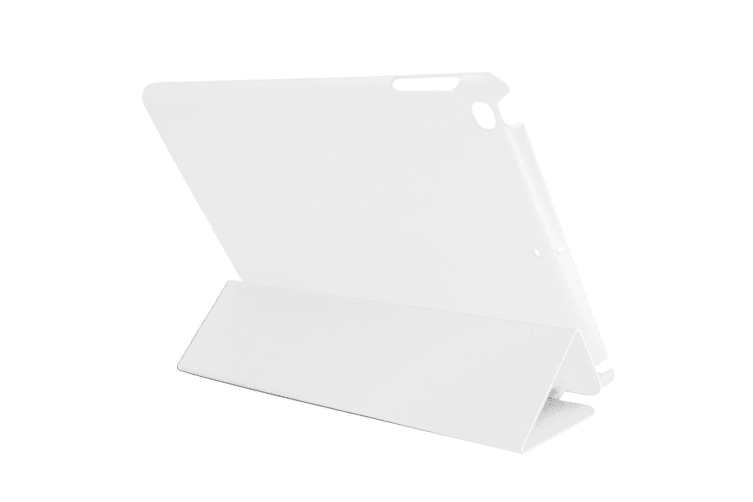 For iPad 2018 2017 Case Toothpick Textured Smart Durable Leather Cover White