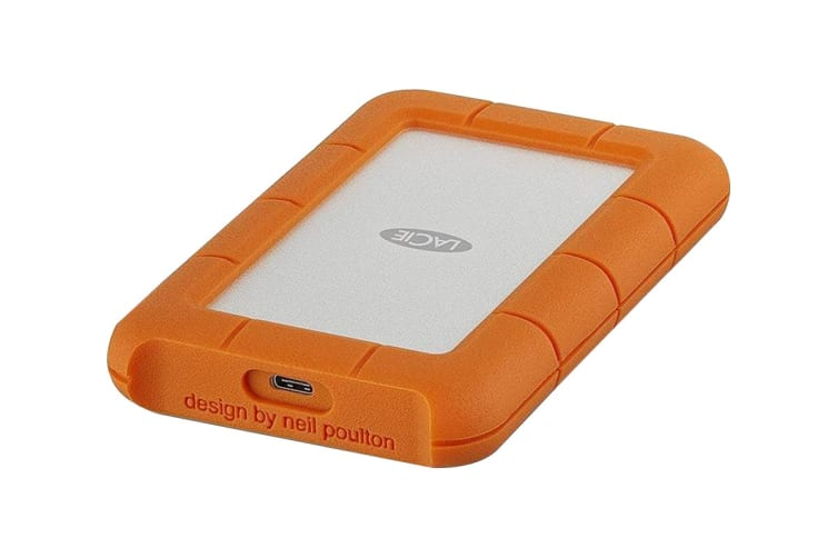 LaCie Rugged Drop Resistant 5TB USB-C Hard Drive (STFR5000800)
