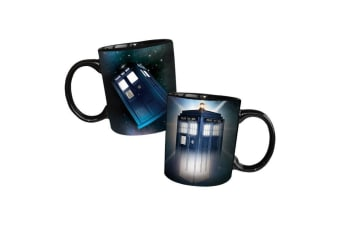 Doctor Who Disappearing Tardis Heat Changing Mug | Coffee Tea Cup Logo