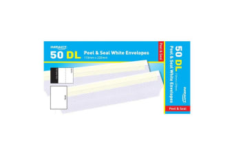 Impact DL Peel And Seal Envelopes (Pack of 50) (White) (One Size)