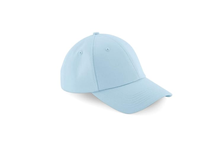 Beechfield Unisex Authentic 6 Panel Baseball Cap (Pack of 2) (Pastel Blue) (One Size)