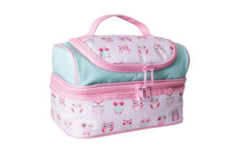 Avanti Yum Yum Kids 2 Compartment Double Decker Insulated Meal Lunch Bag Owls