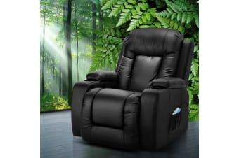 Recliner Chair Electric Massage Chairs Leather Lounge Sofa Heated
