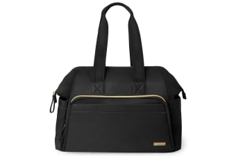 Skip Hop Mainframe Wide Open Diaper Satchel-Black