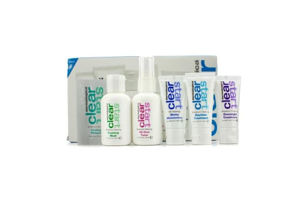 Dermalogica Clear Start Breakout Clearing Kit: Foaming Wash + Toner + Daytime Treatment + Moisturizer SPF 15 + Overnight Treatment (5pcs)